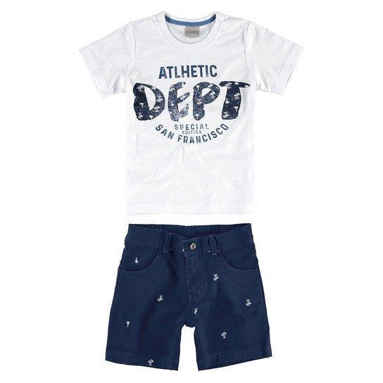 Conjunto Infantil Carinhoso Dept Masculino - Branco - Compre Agora ... ee69405a96a