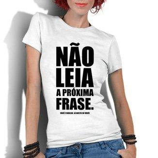 93e9d957dde Camiseta Criativa Urbana Frases Engraçadas Não Leia