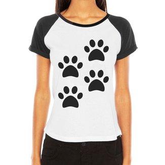 Camiseta Raglan Criativa Urbana 4 Patas Love Pet ddd6ad3cc3b
