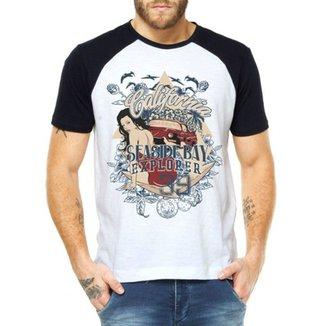 Camiseta Criativa Urbana Raglan Praia Surf 9dda1c81b6091