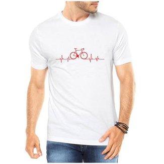 439c9cfaf Camiseta Criativa Urbana Bicicleta Ciclismo Pulsação Masculina