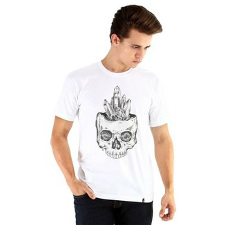 Camiseta Ouroboros manga curta Caveira cristal 56b9eb81e49