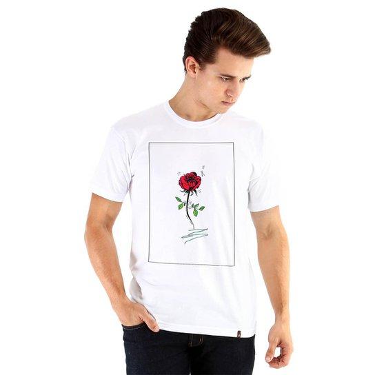 c2886f5a3e78e Camiseta Ouroboros flower Masculina - Branco - Compre Agora