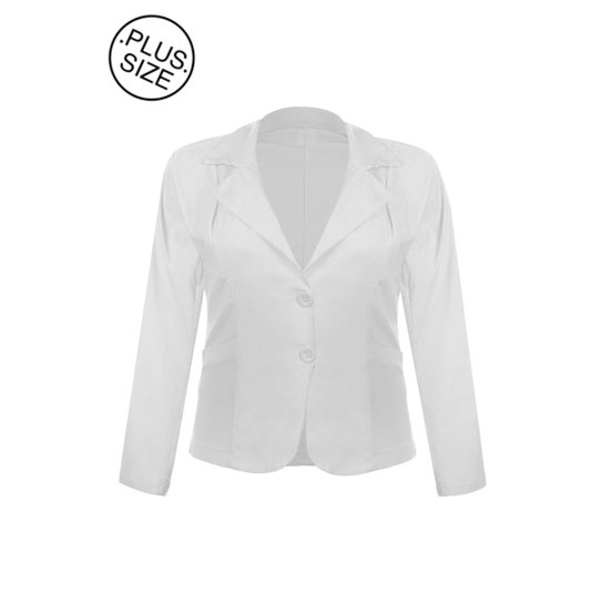 fa3d9249f20cf Blazer OTD Casaco Terno Terninho Social Plus Size Feminino - Compre ...