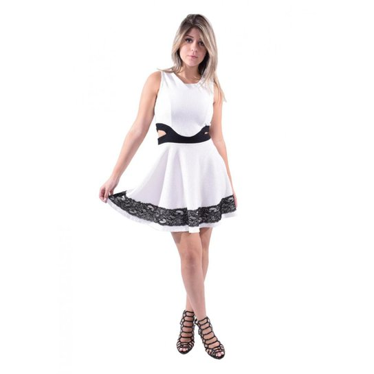 259fef144 Vestido Curto OTD Godê Renda Barra | Zattini