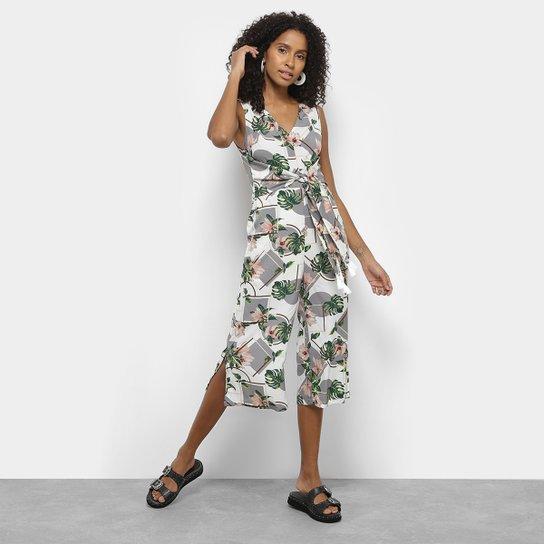 0f2cf5eda Macacão Longo Lily Fashion Floral e Geométrico Feminino | Zattini