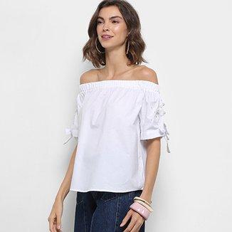8cfcdef0d Blusa Ombro a Ombro Lily Fashion Pérolas Feminina