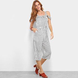 dd0cbd08d8 Macacão Lily Fashion Open Shoulder Listrado Feminino