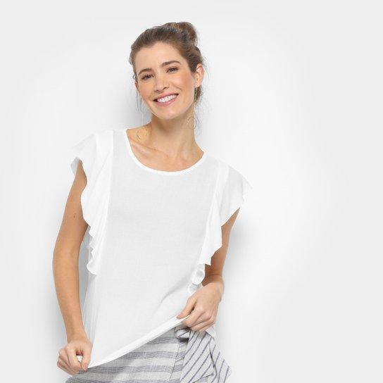 0d46e1e55 Blusa Acrobat Lisa Babados Feminina - Compre Agora
