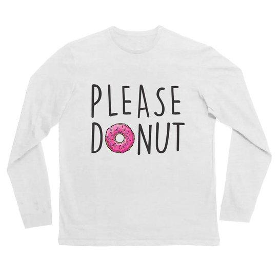 0274e7b95 Camiseta Manga Longa Infantil Please Donuts Comfy Feminina - Compre ...