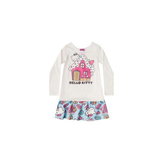 3b782d826 Camisola Manga Longa Bebê Hello Kitty - Branco - Compre Agora