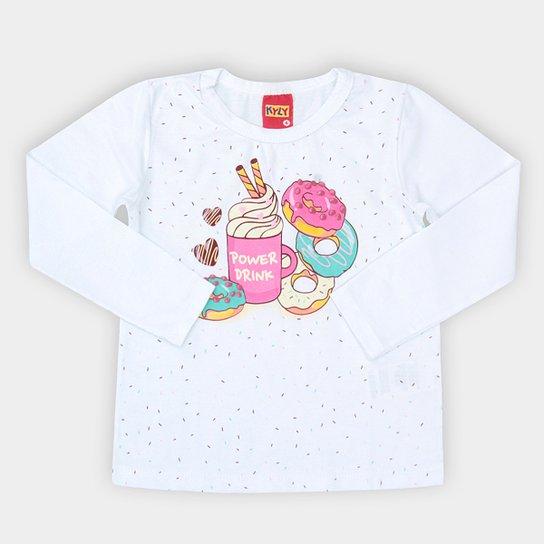 b5cab7454 Blusa Infantil Kyly Donuts Manga Longa Feminina - Compre Agora