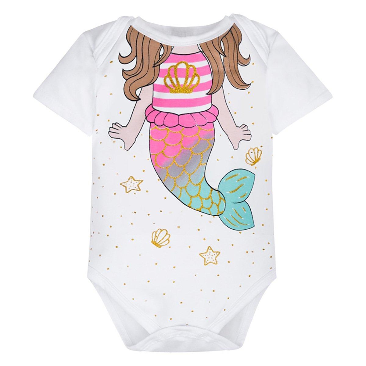 Body Bebê Kyly Cotton Sereia Feminino