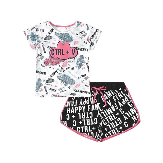 b426da4e19 Pijama Infantil Lilica Ripilica Tal Mãe Tal Filha Feminina - Compre ...