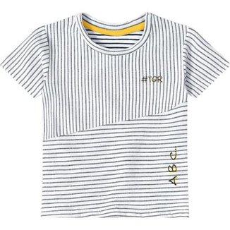 Camiseta Listrada Bebê Tigor T. Tigre Masculina a5ff80ceedb01