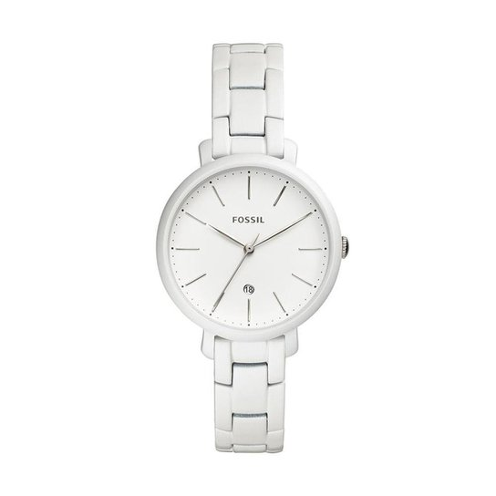 6e72edf62b5 Relógio Fossil Feminino Jacqueline Prata - ES4397 1BN ES4397 1BN - Branco