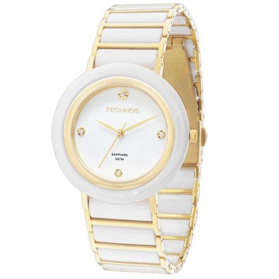 bacc9007e572c Relógio Technos Ceramic Saphire Feminino Analógico - 2036LND 4B 2036LND 4B  - Branco
