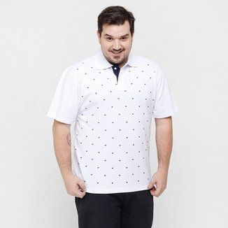 7ce28e2f7c Camisa Polo Local Mini Print Plus Size