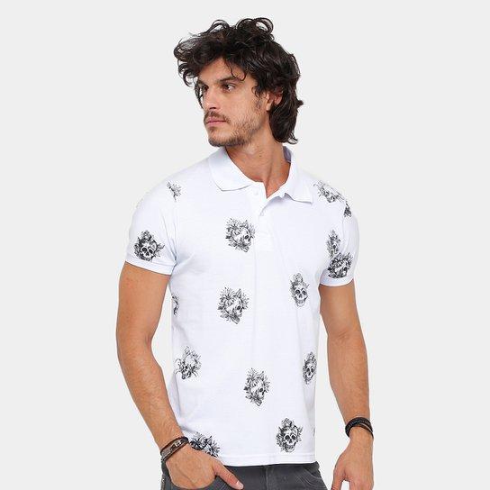 9211203d8f Camisa Polo Local Piquet Skull Tattoo Masculina - Compre Agora