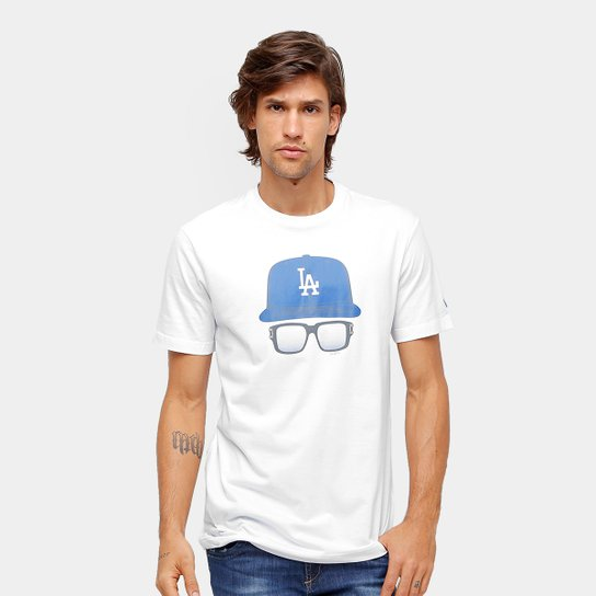 c35226784 Camiseta Los Angeles Dodgers New Era 9 Cap Glasses Masculina - Branco