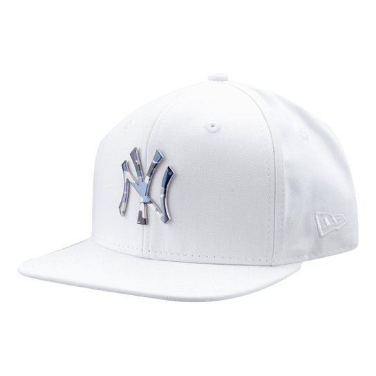 42078523b5474 Boné New Era MLB New York Yankees Aba Reta 950 Of Sn Lic981 Su - Branco