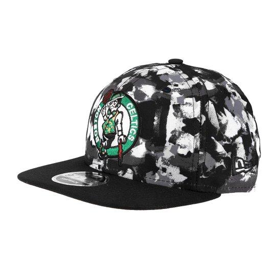 Boné New Era NBA Boston Celtics Aba Reta 950 OF SN Champions - Preto+Cinza ef2155fc8b0