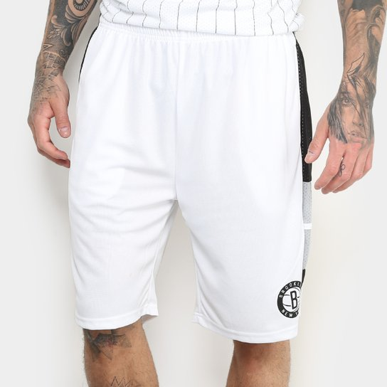 Bermuda NBA Brooklyn Nets New Era Stripe Masculina - Compre Agora ... 96482f02681e0
