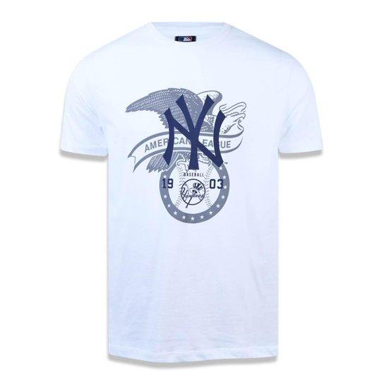 Camiseta New York Yankees MLB New Era Masculina - Branco - Compre ... 4c43d255721