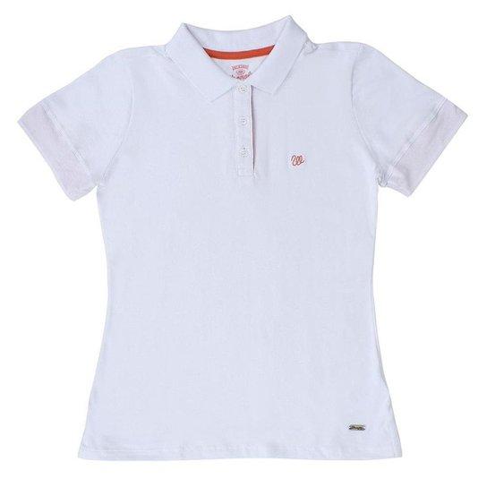 Camisa Polo Feminina Wrangler - Branco - Compre Agora  7623b7bb7e647