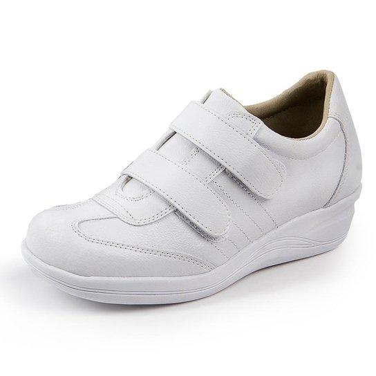 f7bb330a2 Sapato Conforto Pizaflex Confort Antistress Feminino - Branco | Zattini