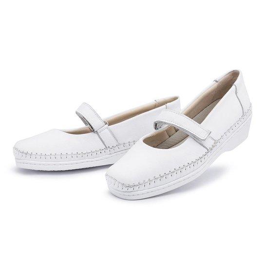 43ae32479 Sapato Conforto Pizaflex Boneca Feminino - Branco | Zattini