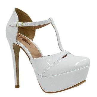 7281f9e778 Sandália Zariff Shoes Meia Pata Verniz