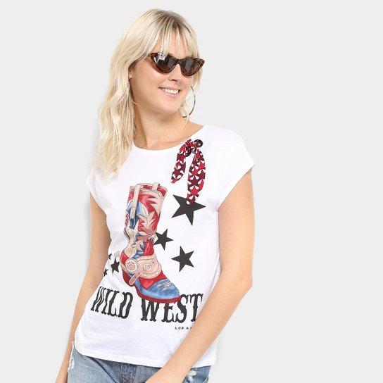 3923fa43a Camiseta Lez a Lez Estampada Wild West Lenço Feminina - Branco ...
