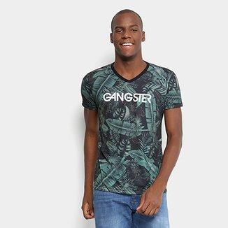 844ff14ec9 Camiseta Gangster Estampada Masculina
