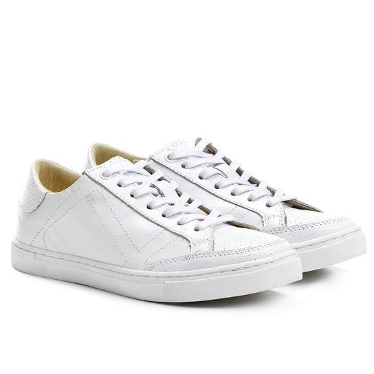 5cb37e631d Tênis Couro Hardcore Footwear Furadinho Feminino - Branco - Compre ...