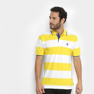 ce3d087cf5c Camisa Polo U.S Polo Assn Piquet Listras Patch Masculina