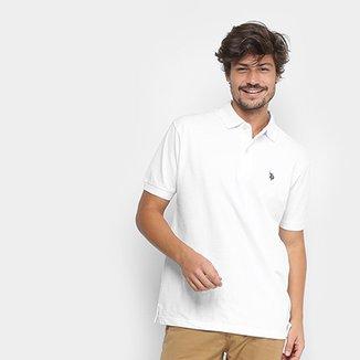 03e4b0c8b57f4 Camisa Polo U.S. Polo Assn Lisa Bordado Masculina