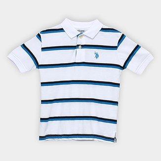 Camisa Polo Infantil U.S. Polo Assn Kids Listrada Masculina 63430ff845cae