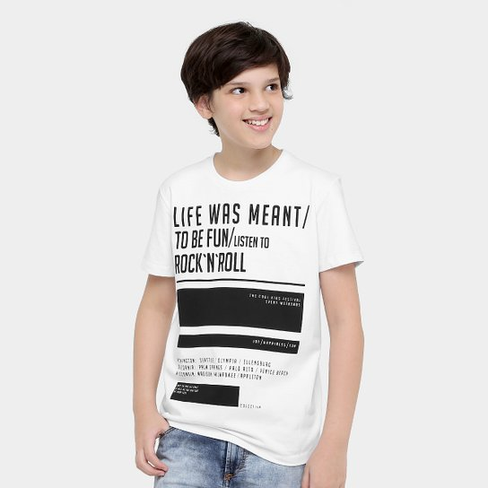 1d1298822 Camiseta Colcci Fun Estampada Infantil - Compre Agora | Zattini
