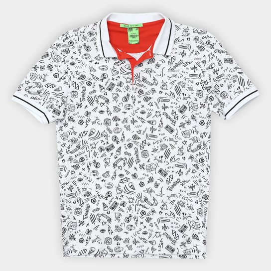 Camisa Polo Infantil Colcci Pique Fun Menino - Branco - Compre Agora ... 069af4186bb8d