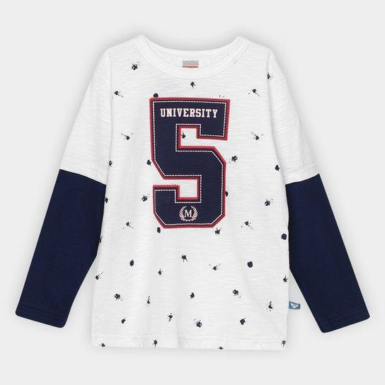 8a2b9daf8 Camiseta Infantil Marlan Número Manga Longa Masculina - Compre Agora ...