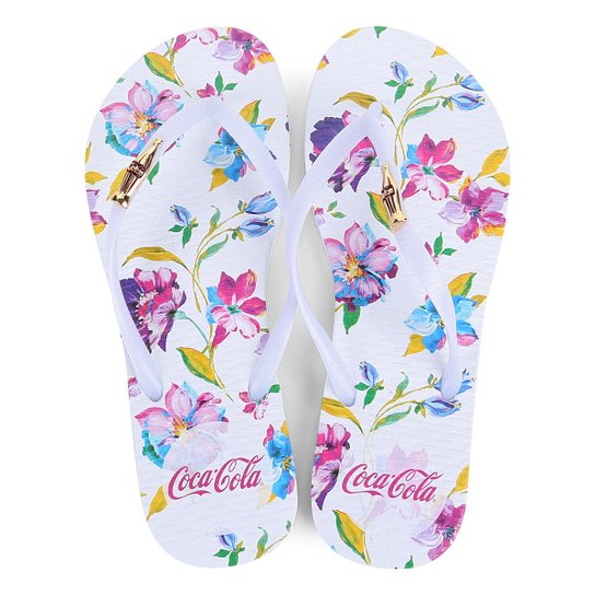 Chinelo Coca Cola Paint Flower Feminino - Compre Agora  34bfd83c69b2d