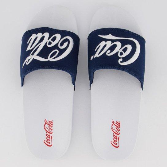 3fd300a655283 Chinelo Coca Cola Slide Logo - Branco - Compre Agora   Zattini