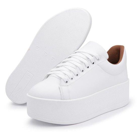 Tênis Flat Form Confort Tenehi Feminino - Branco - Compre Agora ... 32a7199a963b9