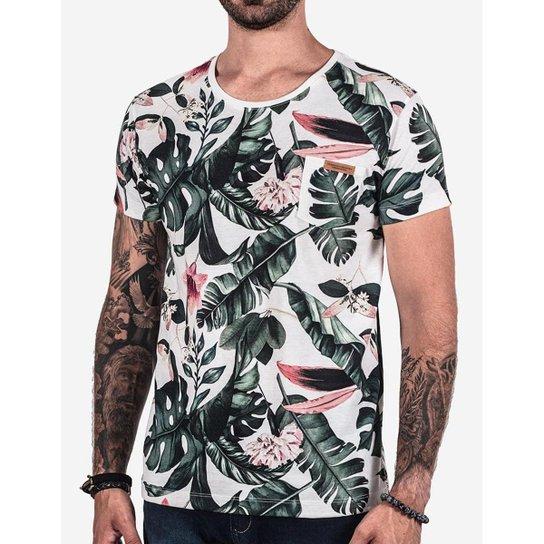 ba38c3647e Camiseta Hermoso Compadre Folhas Masculina - Compre Agora