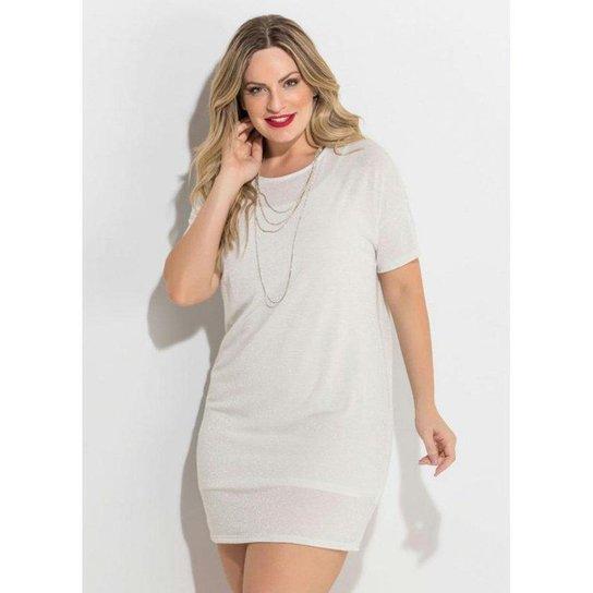 7cb2698a1 Vestido Metalizado Quintess Plus Size - Compre Agora | Zattini