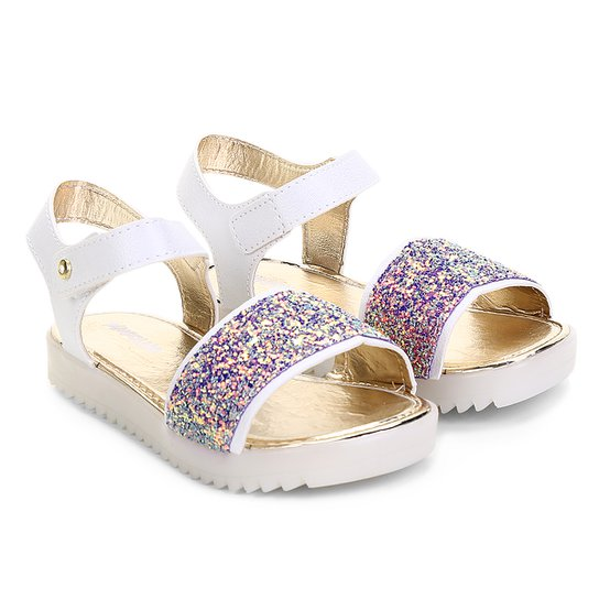 4b5ab63815 Sandália Infantil Pimpolho Glitter Feminina - Branco