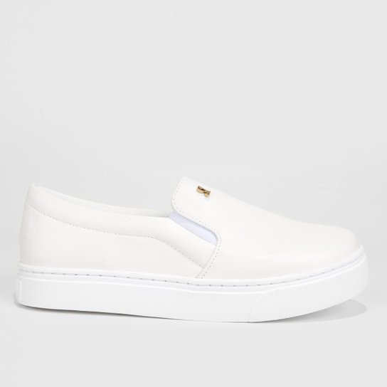 78ff23ca2 Slip On Santa Lolla Logo Feminino - Branco | Zattini
