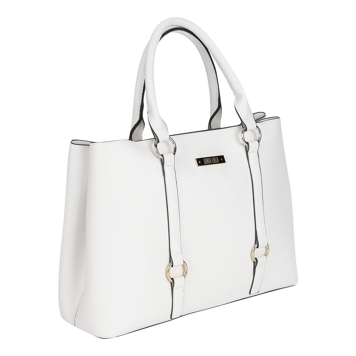 Bolsa Santa Lolla Shopper Argolas Alça Transversal Feminina  7a5925df2a8a4