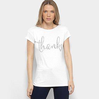 a2660c582 Camiseta Facinelli Thanks Feminina